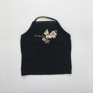 Limited Too Black Halter Top Size L 14